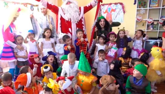 Новогодний мини утренник в детском саду